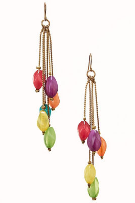 Colorful bead earrings