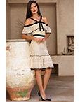 Cold Shoulder Halter Lace Dress Photo
