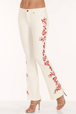 Isabel embroidered flare jean