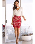 Lace Pencil Skirt Photo