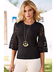 Lace Sleeve Blouson Sweater Photo