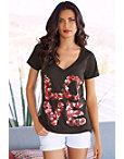 Love Rose Petals Graphic Tee Photo