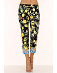 Noir Lemon Floral Side Zip Pant Photo