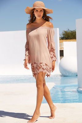 Off The Shoulder Lace Cover-Up