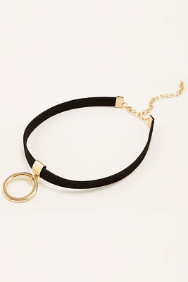 Ring choker necklace