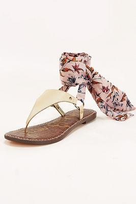 Scarf wrap sandal