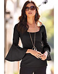 Travel Flare-sleeve Tunic Top Photo