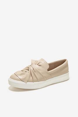 Blush bow slip-on sneaker