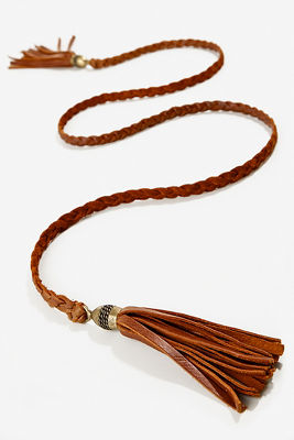 Braided tassel hip belt