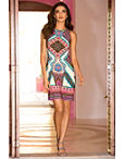 Colorful Printed Dress Photo