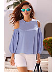 Flirty Cold-shoulder Blouse Photo