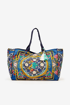 Floral medallion boho bag