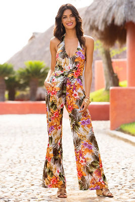 Hibiscus Palm Jumpsuit