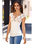 Lace Ruched Top Photo