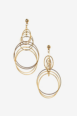 Multihoop gold earrings