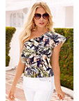 One Shoulder Tropical Top Photo