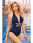 Plunge Gold Ring One-piece Swimsuit Photo