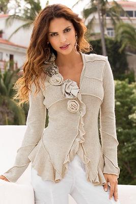 Rosette detail sweater