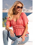 Ruffle Peasant Top Photo