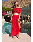 Strapless Lace Maxi Dress Photo