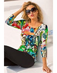 Tropical Print Sweater Photo