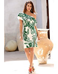 Palm Print Sheath Dress Photo