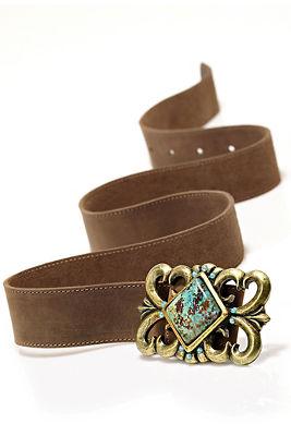Turquoise flourish belt