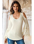 Bell Sleeve Crochet Top Photo