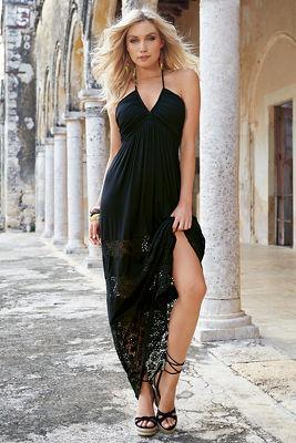 Braided lace maxi dress