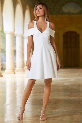 Cold shoulder ponte dress