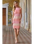 Contrast Lace Sheath Dress Photo