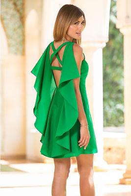 Cross back ruffle dress