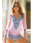 Embellished Coin Tunic Top Photo