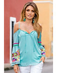 Embroidered Sleeve Bohemian Top Photo