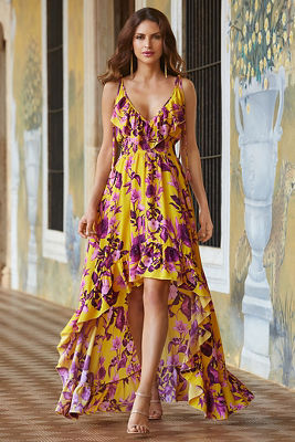 Golden lily maxi dress