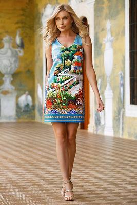 Italian Flag Knee Length Dresses