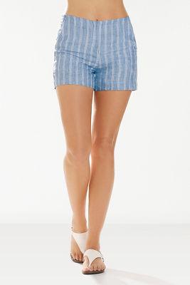 Linen striped short