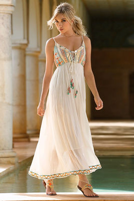 Mirrored embellished maxi dress