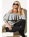 Ruffle Off-the-shoulder Sweatshirt Photo