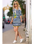 Striped Lemon Print Dress Photo