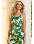 Summer Foliage Peplum Top Photo