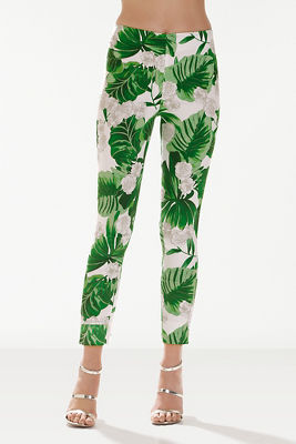 Summer foliage side zip pant