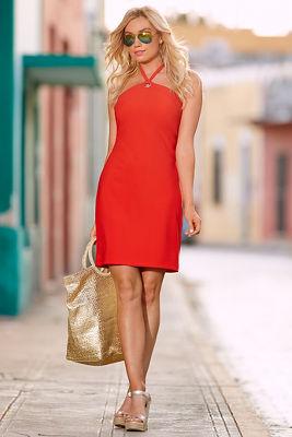 Travel halter dress