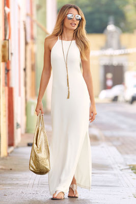 Travel high-neck maxi dress