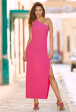 Travel one shoulder maxi dress