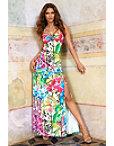 Tropic Stripes Maxi Dress Photo