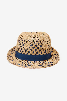 Woven contrast fedora
