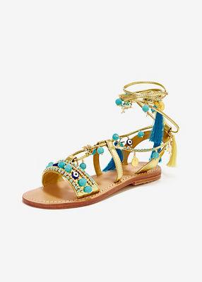 Pom-pom sea life Mystique sandal