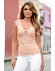 Cap Sleeve Lace-up Top Photo