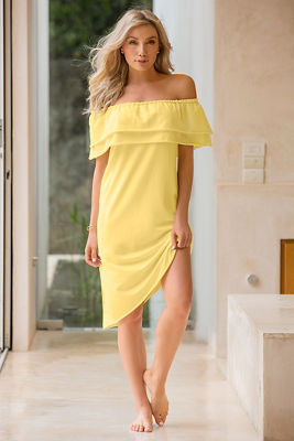 Off-the-shoulder lounge dress